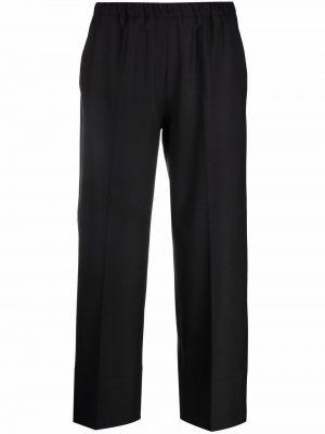 Czarne spodnie wełniane Antonelli