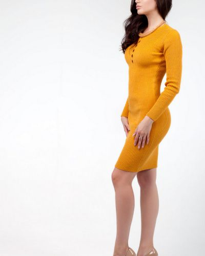 Акриловое платье - желтое Happychoice