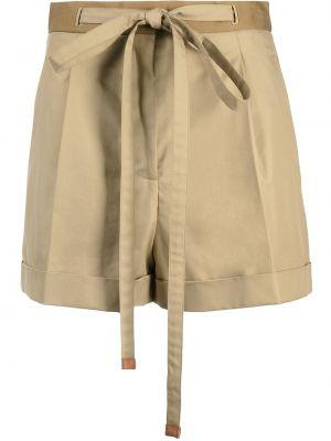 С завышенной талией кожаные шорты с карманами Loewe
