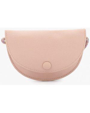 Розовая кожаная сумка Mango Kids