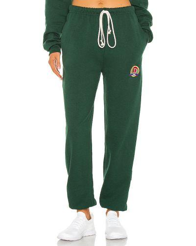 Klasyczny zielony joggery z kieszeniami z haftem Danzy
