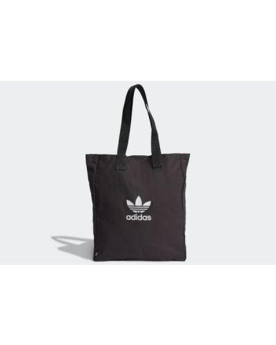 Klasyczna czarna torebka na rzepy Adidas
