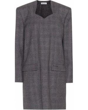 Платье мини серое шерстяное Balenciaga