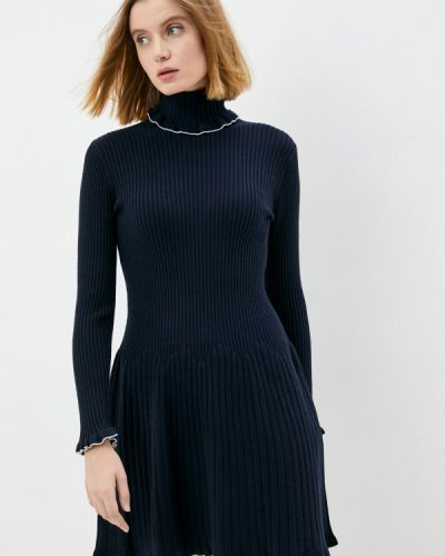 Вязаное платье - синее Max&co