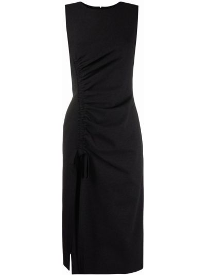 Платье с разрезом - серое Oscar De La Renta