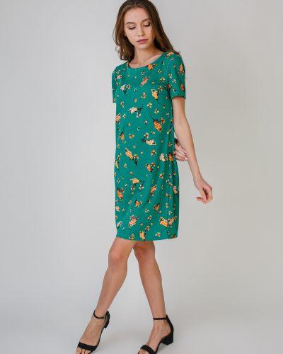 Прямое платье ниже колена с короткими рукавами Vila