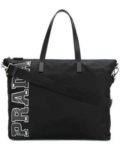 Кожаная сумка сумка-тоут на молнии Prada