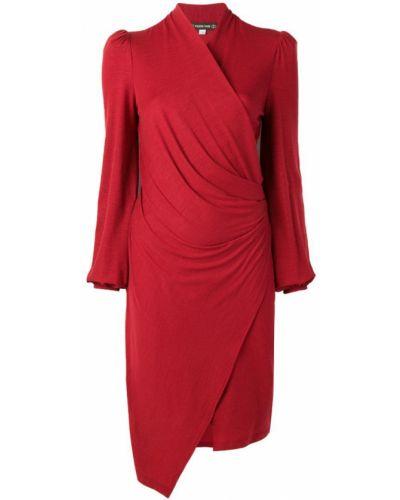 Платье с запахом - красное Plein Sud