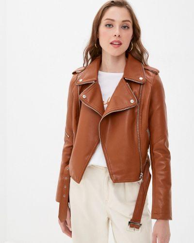 Коричневая кожаная куртка Adrixx