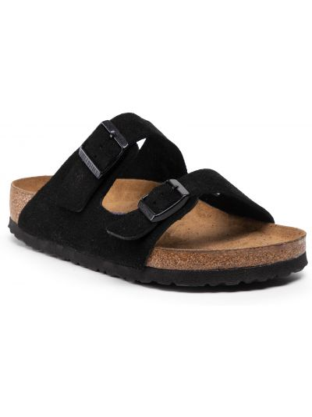 Sandały skórzane - czarne Birkenstock