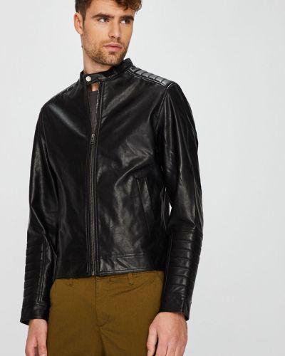 Кожаная куртка укороченная из полиэстера Jack & Jones