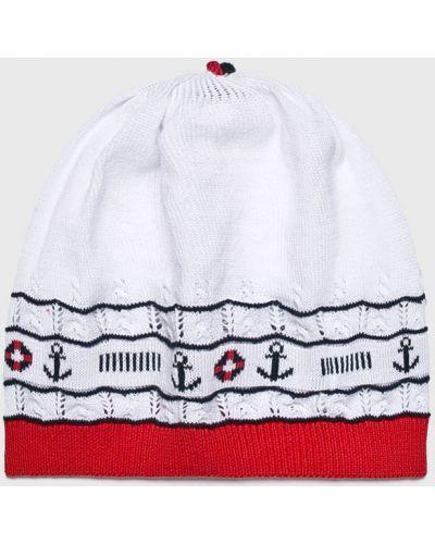 Зимняя шапка облегающий белый Jamiks