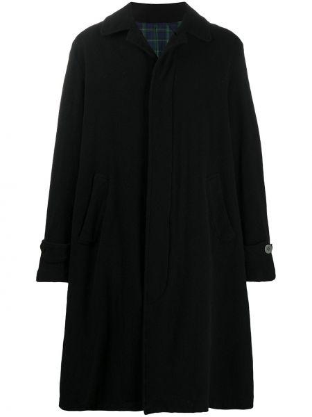 Klasyczny czarny płaszcz wełniany Undercover