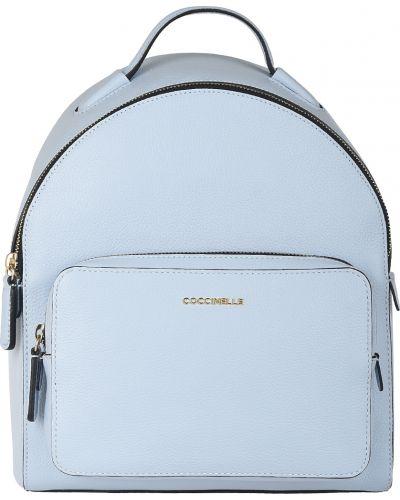Кожаный рюкзак - голубой Coccinelle