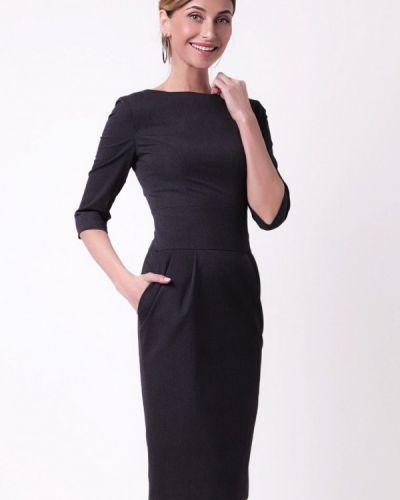 Повседневное платье серое осеннее Olga Skazkina