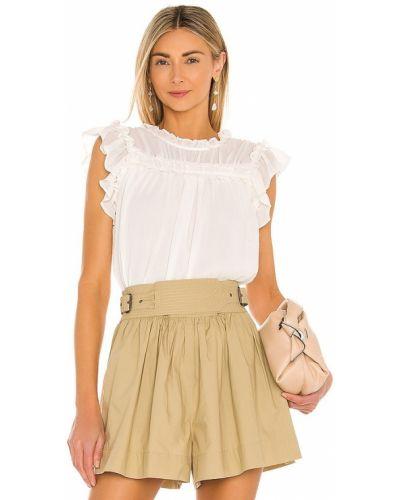 Мягкая шифоновая белая блузка 1. State