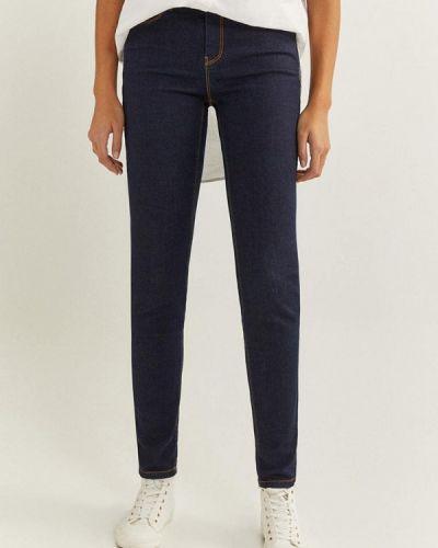 Синие джинсы-скинни узкого кроя Springfield