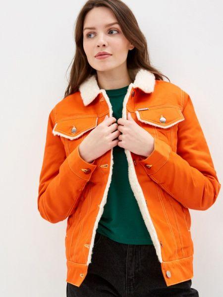Джинсовая куртка - оранжевая Dasti