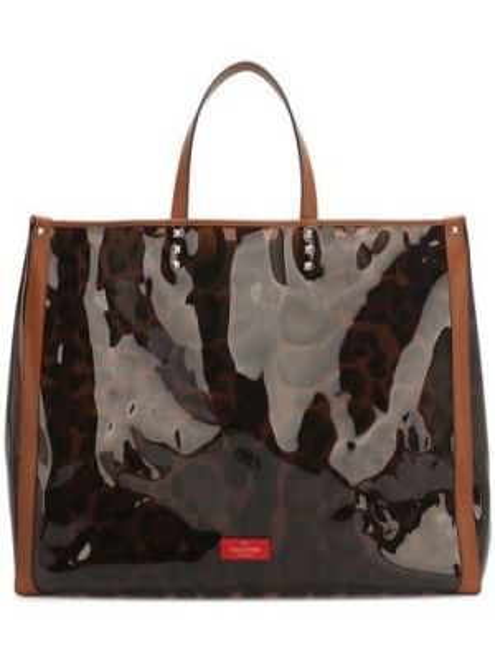 Кожаная сумка шоппер с ручками Valentino