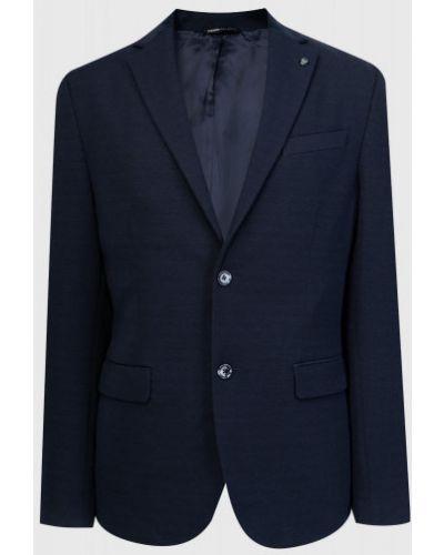 Синий пиджак с карманами со шлицей Ostin