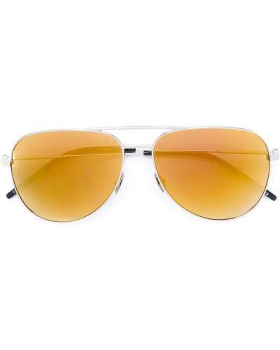 Pomarańczowe okulary Saint Laurent