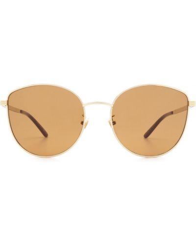 Złote okulary - czarne Gucci