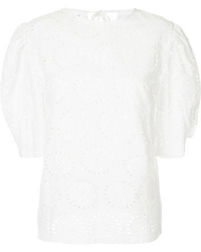 Блузка с вышивкой белая N Duo
