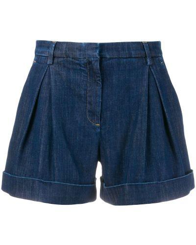 Джинсовые шорты с карманами со стразами L'autre Chose