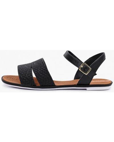 Черные кожаные сандалии Moleca