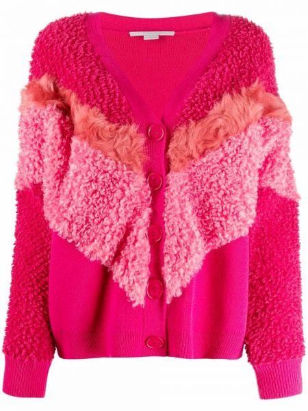 Шерстяной кардиган - розовый Stella Mccartney