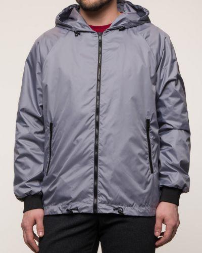 Прямая серая куртка с капюшоном каляев