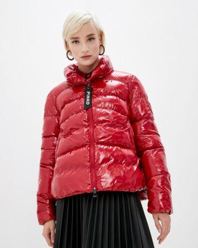 Красная теплая куртка Pinko