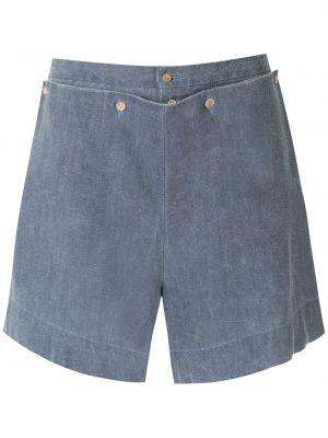 Синие шорты с карманами Osklen