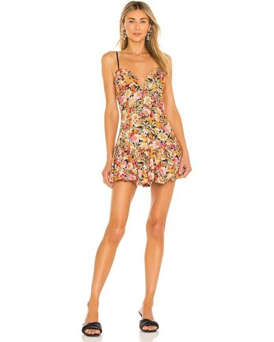 Платье мини - оранжевое For Love & Lemons
