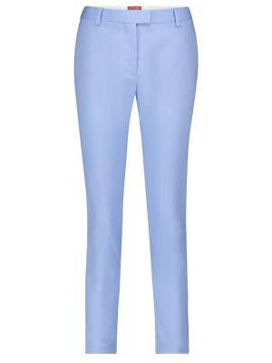 Шерстяные синие брюки стрейч Altuzarra