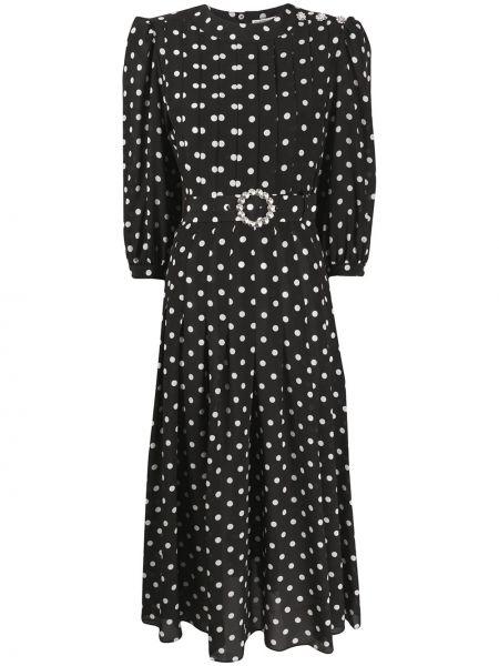 Платье макси в горошек плиссированное Alessandra Rich