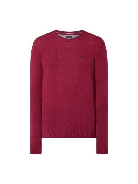 Prążkowany fioletowy sweter wełniany Mcneal
