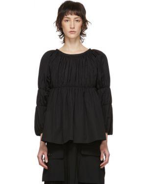 Блузка с длинным рукавом на резинке с воротником-стойкой Comme Des Garcons Comme Des Garcons