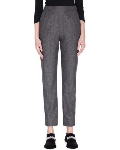 Шерстяные брюки - серые Isa Arfen