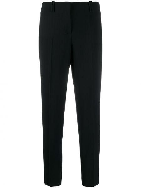 Деловые черные брюки с поясом Incotex