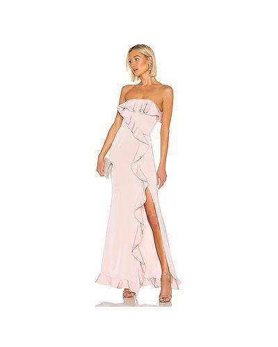 Вечернее платье розовое на молнии Nbd