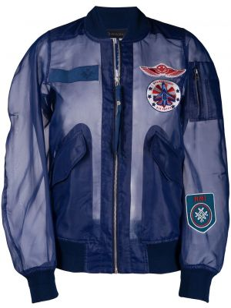 С рукавами синяя короткая куртка прозрачная Mr & Mrs Italy