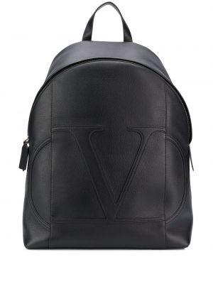 Czarny plecak skórzany na co dzień Valentino