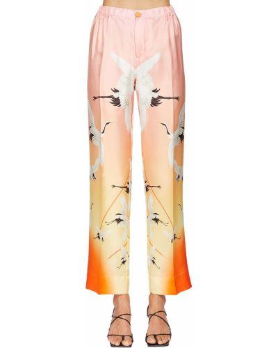 Розовые брюки на резинке с накладными карманами с заплатками с открытым носком F.r.s. For Restless Sleepers