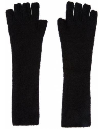 Czarne rękawiczki bez palców wełniane Isabel Benenato