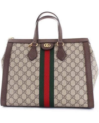 Czarna torba podróżna z printem Gucci