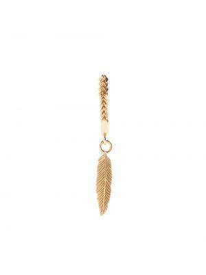 Золотистые золотые серьги золотые Emanuele Bicocchi
