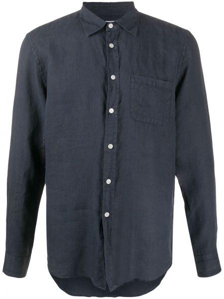 Льняная рубашка с воротником с заплатками с манжетами Portuguese Flannel