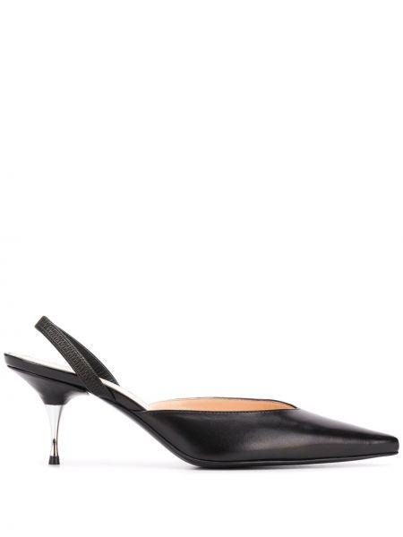 Черные мюли на каблуке Ermanno Scervino