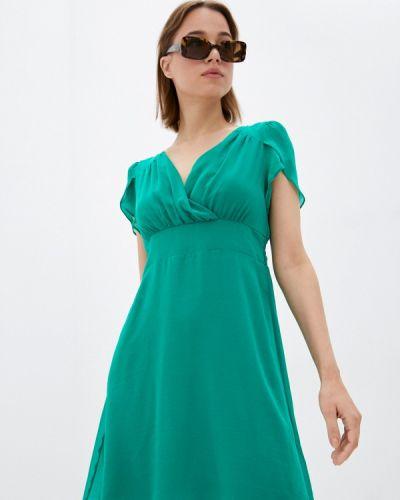 Зеленое платье с запахом Naf Naf